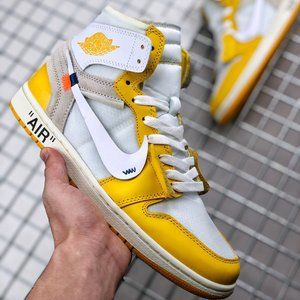 Air Jordan 1 X Off-white White Yellow